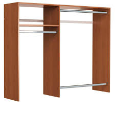 Closet Kit Shop Easy Track 5 Ft X 7 Ft Cherry Wood Closet Kit At Lowes Com