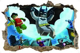 wall stickers lego batman 3d style wall sticker