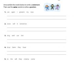 99 free word order worksheets