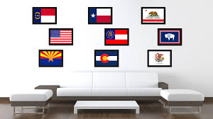 georgia state flag home decor office wall art livingroom interior