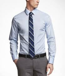light blue long sleeved collared shirt with contrasting darker