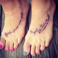 mom and daughter tattoo together forever never apart maybe in