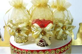 12 new gold basket design favors royal prince baby shower