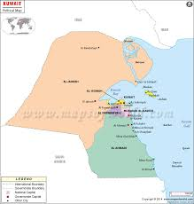 kuwait on a map political map of kuwait kuwait governorates map
