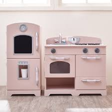 furniture kitchen set teamson 2 wooden play kitchen set reviews wayfair