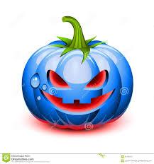 halloween blue pumpkin face royalty free stock image image 21249176
