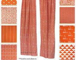 orange bedroom curtains orange curtains etsy