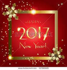 Happy New Year Decoration Vector by Happy New Year 2017 Text Design Stock Vector 486825190 Shutterstock