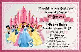 disney princess birthday invitations disney princess birthday