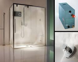 shower with steam sauna home design