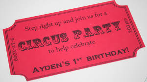 step right up it u0027s a circus party theme thoughtfully simple