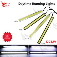 best led daytime running lights best price 2x 17cm 14cm led cob 84 chip pure white car auto driving
