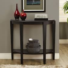 Entry Table Decor by Furniture Black Wooden Hall Accent Half Moon Console Table With