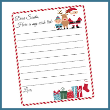 my wish list free printable letter to santa template christmas wish list