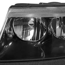 2000 black jeep grand 04 jeep grand replacement headlights black clear