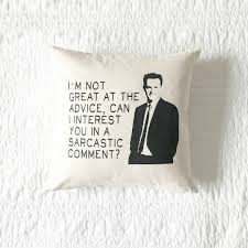 friends tv show joey tribbiani how you doin u0027 pillow