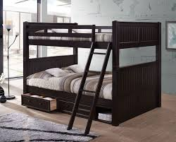 Black Wooden Bunk Beds Dillon Bunk Bed With Storage And Trundle