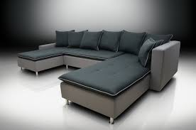 Double Chaise Sectional Excellent Ombre Grey Leather Double Chaise Sectional On Low Metal
