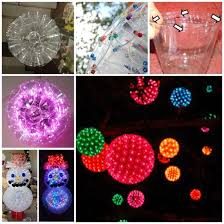 how to make christmas sparkle balls from plastic cups