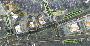 Palm Coast Florida Map Eastbound Palm Coast Parkway Access At Harbor Center Way Closed