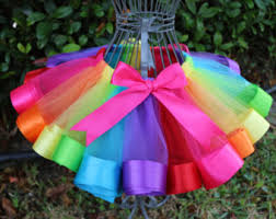 ribbon tutu rainbow ribbon skirt etsy