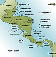 america map of rivers central america