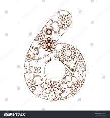 coloring page number 6 ornamental stock vector 664579237