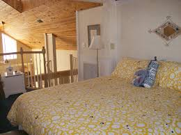 Small Loft Bedroom Furniture Ornate Yellow Bubble Pattern Cover Bed Sheet With White Shade