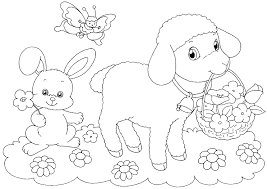 easter lamb coloring pages getcoloringpages com