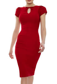 paloma red dress red bodycon dress knee length neck bow