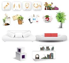 home furnishing decoration appliance psd material free vector
