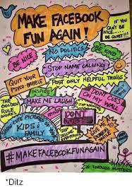 Make A Facebook Meme - make facebook if you cant be fun again nile no politics stop name