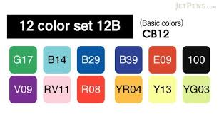 copic marker 12 basic color set jetpens com