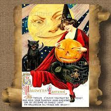 vintage halloween lantern printable vintage halloween postcard