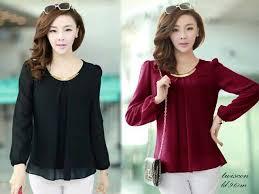blouse wanita blouse wanita sabit gold 030 baju atasan kerja