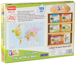 Football Country Flags Buy Funskool World Map Puzzles Online At Low Prices In India