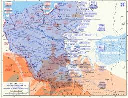 Ww2 Europe Map Map Of Russian Offensive To The Oder River January March 1945