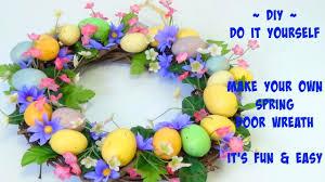 diy spring door wreath it u0027s fun u0026 very easy too youtube