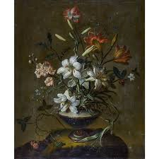 Metz Flowers - johann martin metz a still life of flowers with