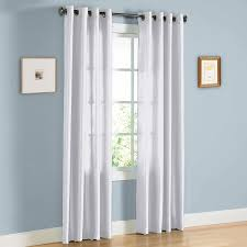 amazon com hlc me pair of white faux silk grommet curtain panels