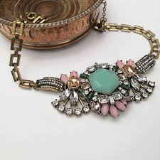 vintage crystal statement necklace images Pastel vintage statement necklace by anna lou of london jpg