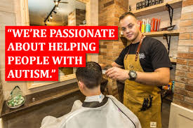 mens haircuts yeovil wheelchair and autism friendly yeovil barbers man about town