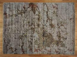 Modern Oriental Rugs 10 U0027 X 14 U0027 Hand Knotted Art Silk Modern Broken Design Oriental Rug