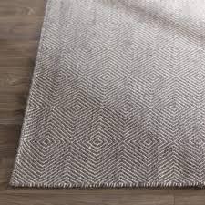 Woven Cotton Area Rugs Mercury Row Marcelo Flat Woven Cotton Gray Area Rug Reviews