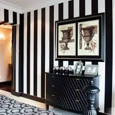 Living Room Wallpaper Ebay Black White Stripe Wall Paper Stripes Textured Designer Feature