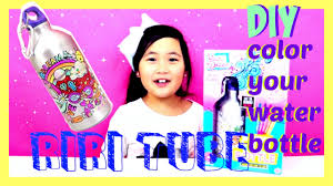 Decorate Water Bottle Diy How To Color Your Water Bottle And Decorate With Cute