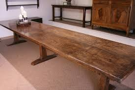 large trestle dining table introducing late 17th century style ash trestle table made from 2