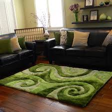 Green Area Rug Donnie Shaggy Abstract Swirl Green Area Rug 5 X 7 5 X 7