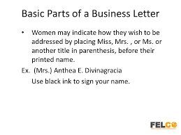 lesson 2 business letters parts and formats ppt download
