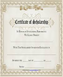 templates for scholarship awards sle award certificates award template amazing award certificate